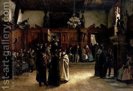 Im Gerichtsvorsaal 1883 by Christian Ludwig Bokelmann - Reproduction Oil Painting