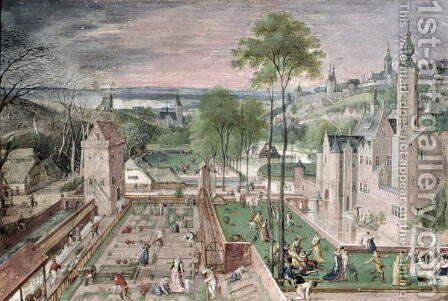 Spring in the Castle Garden 1584 by Hans Bol - Reproduction Oil Painting