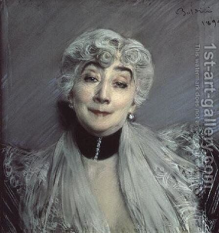 Portrait of the Countess de Martel de Janville, known as Gyp by Giovanni Boldini - Reproduction Oil Painting