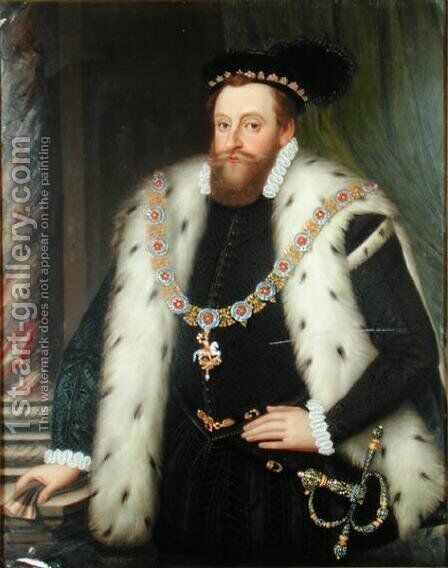 Sir Henry Sidney by Henry Bone - Reproduction Oil Painting