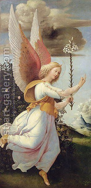 Angel Gabriel by Girolamo Bonsignori - Reproduction Oil Painting