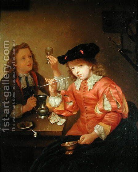 The Young Cavaliers by Arnold Boonen - Reproduction Oil Painting