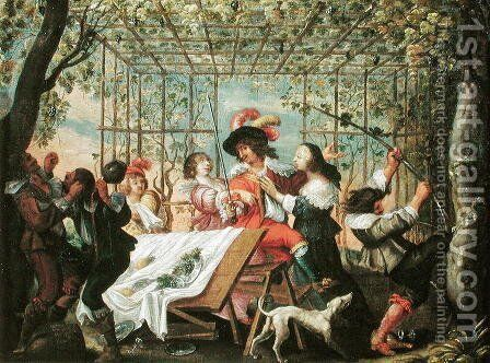 Autumn by Abraham Bosse - Reproduction Oil Painting