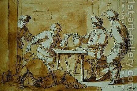 In the Bar 1633 by Andries Both - Reproduction Oil Painting