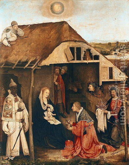 Nativity by Hieronymous Bosch - Reproduction Oil Painting