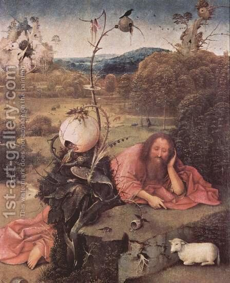 St. John the Baptist in Meditation by Hieronymous Bosch - Reproduction Oil Painting