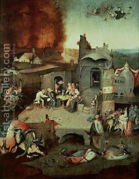 Temptation of Saint Anthony   c.1500 by Hieronymous Bosch - Reproduction Oil Painting
