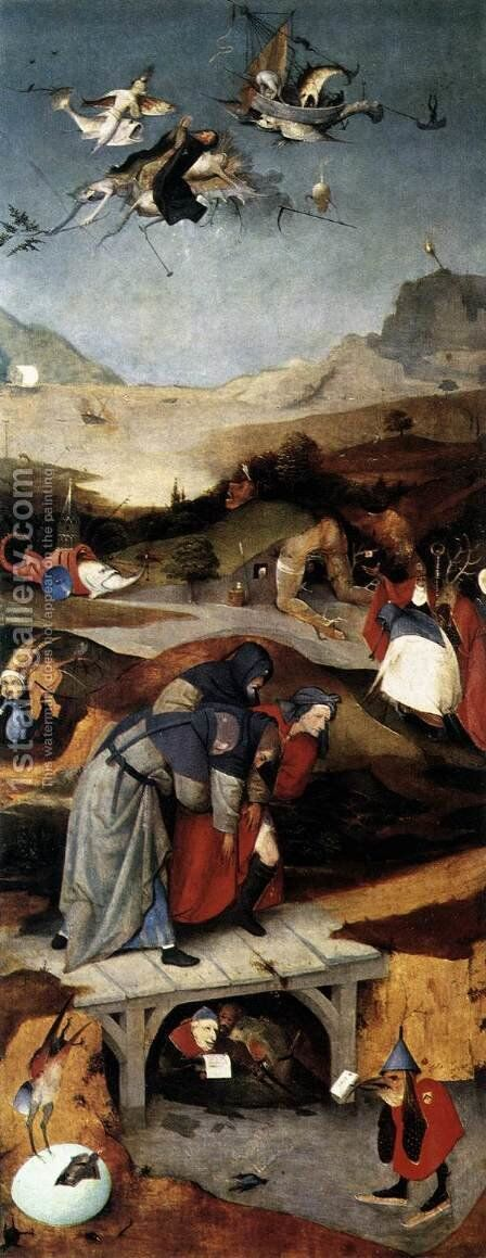 Temptation of St. Anthony (2) by Hieronymous Bosch - Reproduction Oil Painting