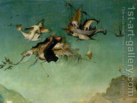 Temptation of St.Anthony (detail of left hand panel) by Hieronymous Bosch - Reproduction Oil Painting