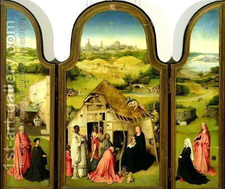 The Adoration of the Magi, 1510 by Hieronymous Bosch - Reproduction Oil Painting