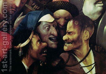 The Carrying of the Cross (detail) by Hieronymous Bosch - Reproduction Oil Painting