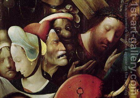 The Carrying of the Cross (detail of Christ and St. Veronica) by Hieronymous Bosch - Reproduction Oil Painting
