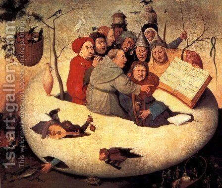 The Concert in the Egg by Hieronymous Bosch - Reproduction Oil Painting