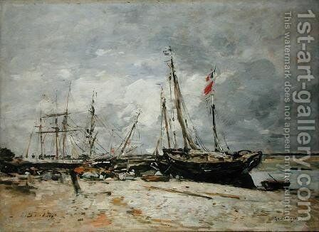 Le Crotay 1891 by Eugène Boudin - Reproduction Oil Painting