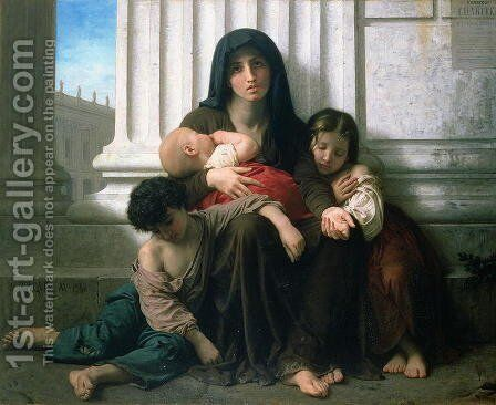 Charity or The Indigent Family', 1865 by William-Adolphe Bouguereau - Reproduction Oil Painting