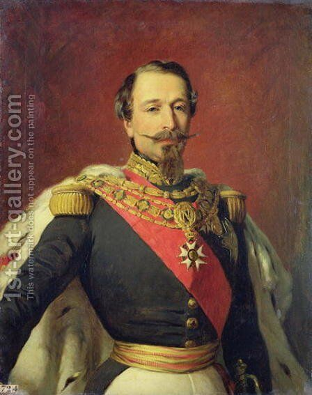 Portrait of Emperor Louis Napoleon III, 1853 by Auguste Boulard - Reproduction Oil Painting