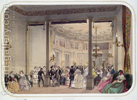 The Salon and Rotunda of the Establishment, Vichy by Charles Bour - Reproduction Oil Painting