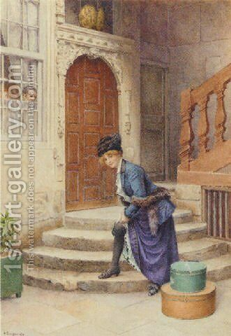 A revealing moment by Gustave Bourgain - Reproduction Oil Painting
