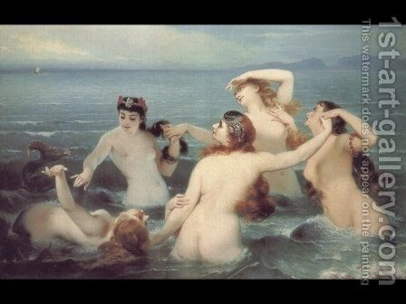 The Dance of the Sea, 1883 by Charles Edouard Boutibonne - Reproduction Oil Painting