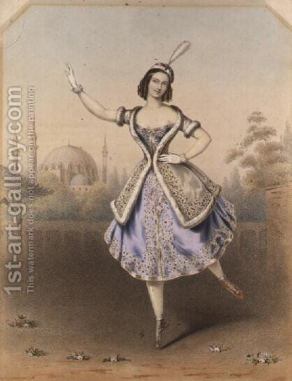 Fanny Cerrito in 'La Lituana' by Auguste Jules Bouvier, N.W.S. - Reproduction Oil Painting