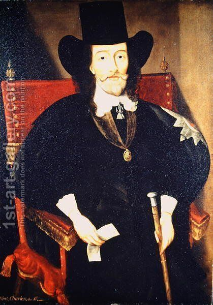 Portrait of King Charles I at his Trial by Edward Bower - Reproduction Oil Painting