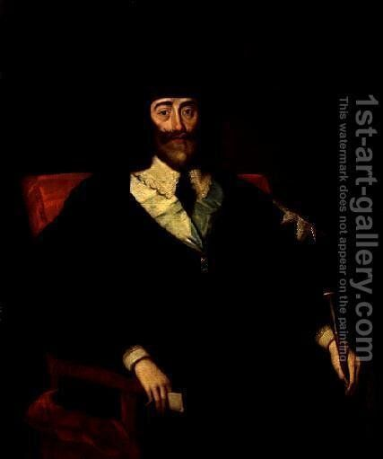 Portrait of King Charles I at his Trial (2) by Edward Bower - Reproduction Oil Painting