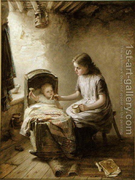 Tea Time by Jane Maria Bowkett - Reproduction Oil Painting