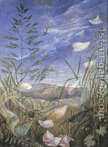Death but asleep when the spring begins by Eleanor Vere Boyle - Reproduction Oil Painting