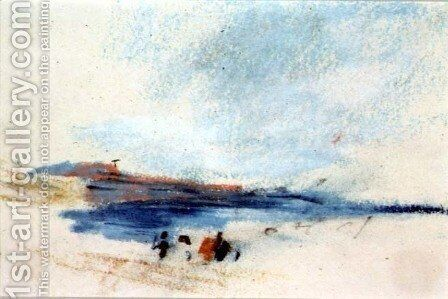 A Bay, with Blue Water and Figures in the foreground Victoria by Hercules Brabazon Brabazon - Reproduction Oil Painting