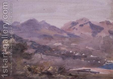 Above Menton by Hercules Brabazon Brabazon - Reproduction Oil Painting