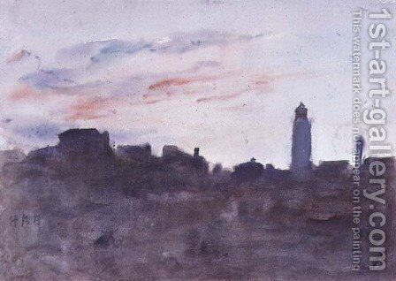 After Sunset, View from the Artist's Window in Morpeth Terrace by Hercules Brabazon Brabazon - Reproduction Oil Painting
