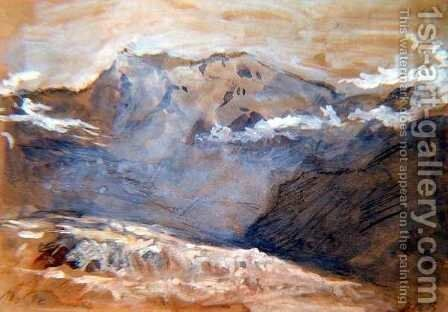Monte Rosa by Hercules Brabazon Brabazon - Reproduction Oil Painting