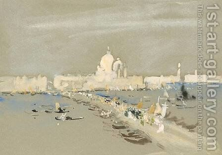 Procession of the Redentore, Venice by Hercules Brabazon Brabazon - Reproduction Oil Painting