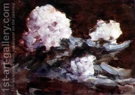 Rhododendrons by Hercules Brabazon Brabazon - Reproduction Oil Painting
