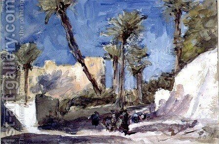 The Date Palms at Elche, Spain by Hercules Brabazon Brabazon - Reproduction Oil Painting