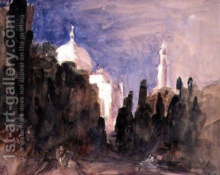 The Gardens of the Taj Mahal, Venice by Hercules Brabazon Brabazon - Reproduction Oil Painting