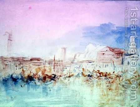 Venice from the Lagoon (1) by Hercules Brabazon Brabazon - Reproduction Oil Painting