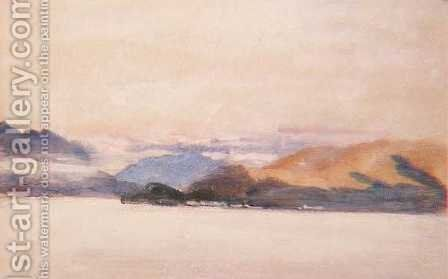 View over Lake Como by Hercules Brabazon Brabazon - Reproduction Oil Painting