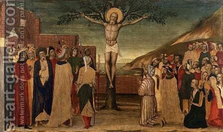 Crucifixion of St Andrew c.1495 by Carlo di Braccesco - Reproduction Oil Painting