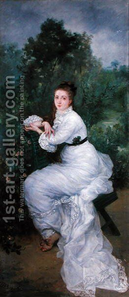 Study for 'Woman in White' 1874 by Marie Bracquemond - Reproduction Oil Painting
