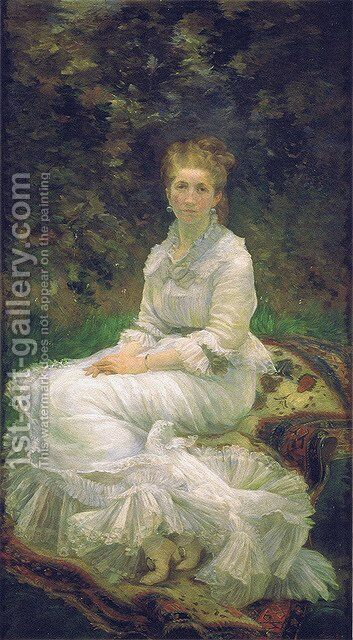 The Woman in White, c.1880 by Marie Bracquemond - Reproduction Oil Painting