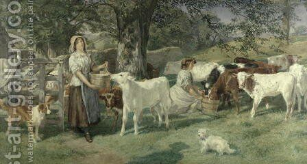 Milkmaids by Basil Bradley - Reproduction Oil Painting
