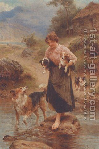 The watchfull mother by Basil Bradley - Reproduction Oil Painting