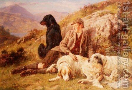 Waiting for the Guns by Basil Bradley - Reproduction Oil Painting