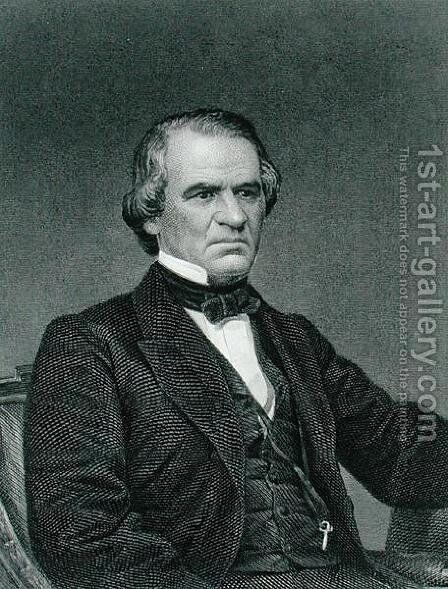 Andrew Johnson by Mathew Brady - Reproduction Oil Painting