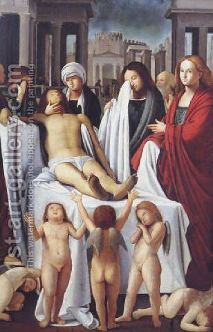 The Deposition of Christ 1514 by (Bartolomeo Suardi) Bramantino - Reproduction Oil Painting
