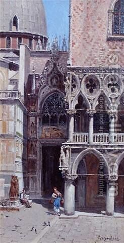 Doges Palace by Antonietta Brandeis - Reproduction Oil Painting