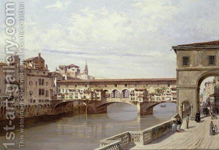 The Pontevecchio, Florence by Antonietta Brandeis - Reproduction Oil Painting
