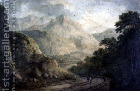 Landscape- A Rocky Stream with Wooded Banks by Charles Branwhite - Reproduction Oil Painting