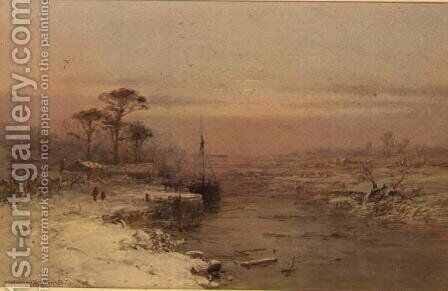 Winter Afternoon, Warwick by Charles Branwhite - Reproduction Oil Painting